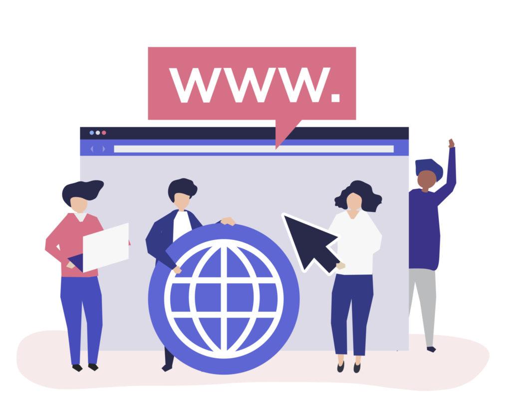 ilustração de pessoas representando nicho de site