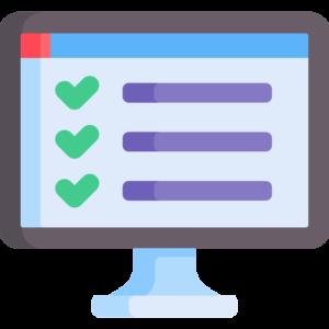 ilustração de uma tela de computador representando os 7 pontos importantes para o assessor de imprensa criar uma presença mais eficaz no ambiente digital