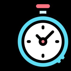 ilustração de um relógio representando tempo