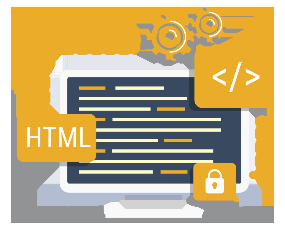 vetor da representação de um código HTML