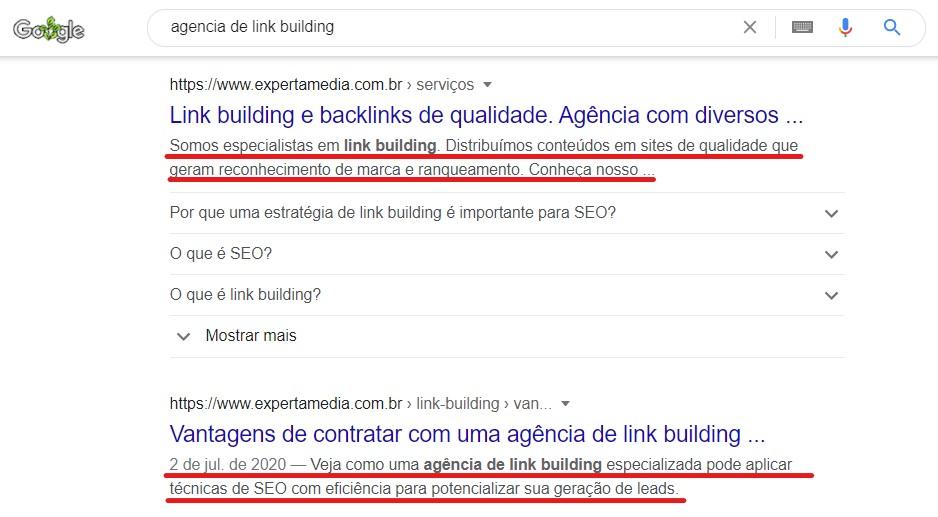 meta description resultados agencia de link building experta media