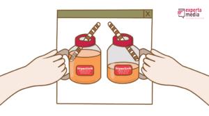 representação de link juice (copos)